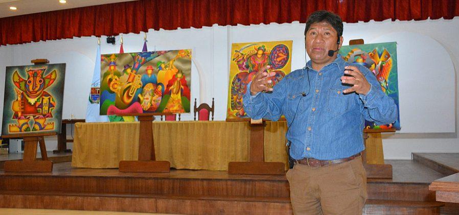 UNITEPC amplía la exposición y artes de Mamani Mamani hasta abril